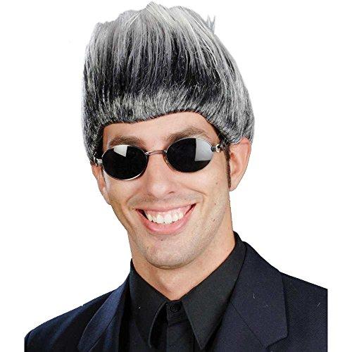 Don King Buckwheat Mixed Grey Wig