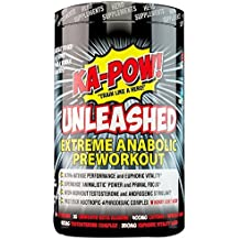 KA-POW! UNLEASHED - EXTREME ANABOLIC PREWORKOUT -The Strongest Most Complete Pre-Workout Formula Ever Made! Clinically Dosed 3-in-1 Super Formula will change the way you workout FOREVER! 20 Svgs