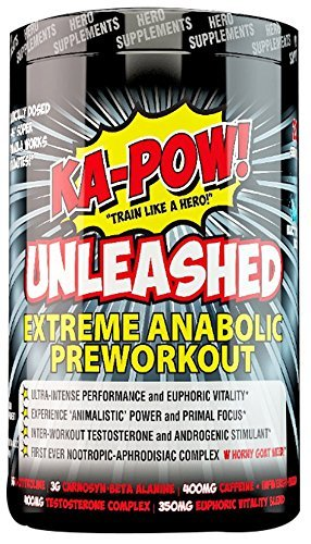 KA-POW! UNLEASHED - EXTREME ANABOLIC PREWORKOUT -The Strongest Most Complete (Pre Workout Stack)