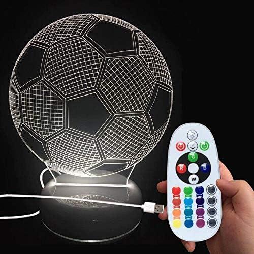 DONJON lámpara de noche LED balón de fútbol con control remoto ...