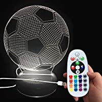 DONJON Baby Sleep lamp, LED Football Lamp with Wireless...