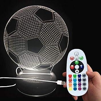 Donjon Led Nachtlicht Led Fussball Lampe Mit Wireless Fernbedienung 16 Farben Fur Kinder Familie Ferienhaus Dekoration Geburtstagsgeschenke