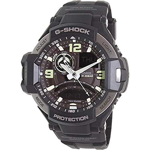 Casio Men's GA-1000-1B G-Shock Analog Digital Quartz Black Watch