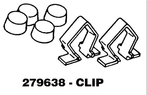 Whirlpool 279638 Dryer Toe Panel Clip Genuine Original Equipment Manufacturer (OEM) part for Kenmore Clothes Dryer Panel
