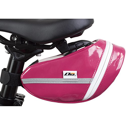 LTG Fahrrad-Satteltasche, Fahrradtasche Handytasche, Gina Outdoor Bicycle Waterproof, Seat Bag, Bike Saddle Bag (Rosa)