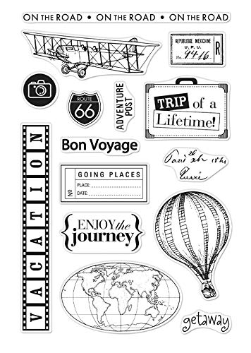 Hero Arts from The Vault Travel and Coordinating Frame Cuts CM358, DI639 Bundle of Two Items
