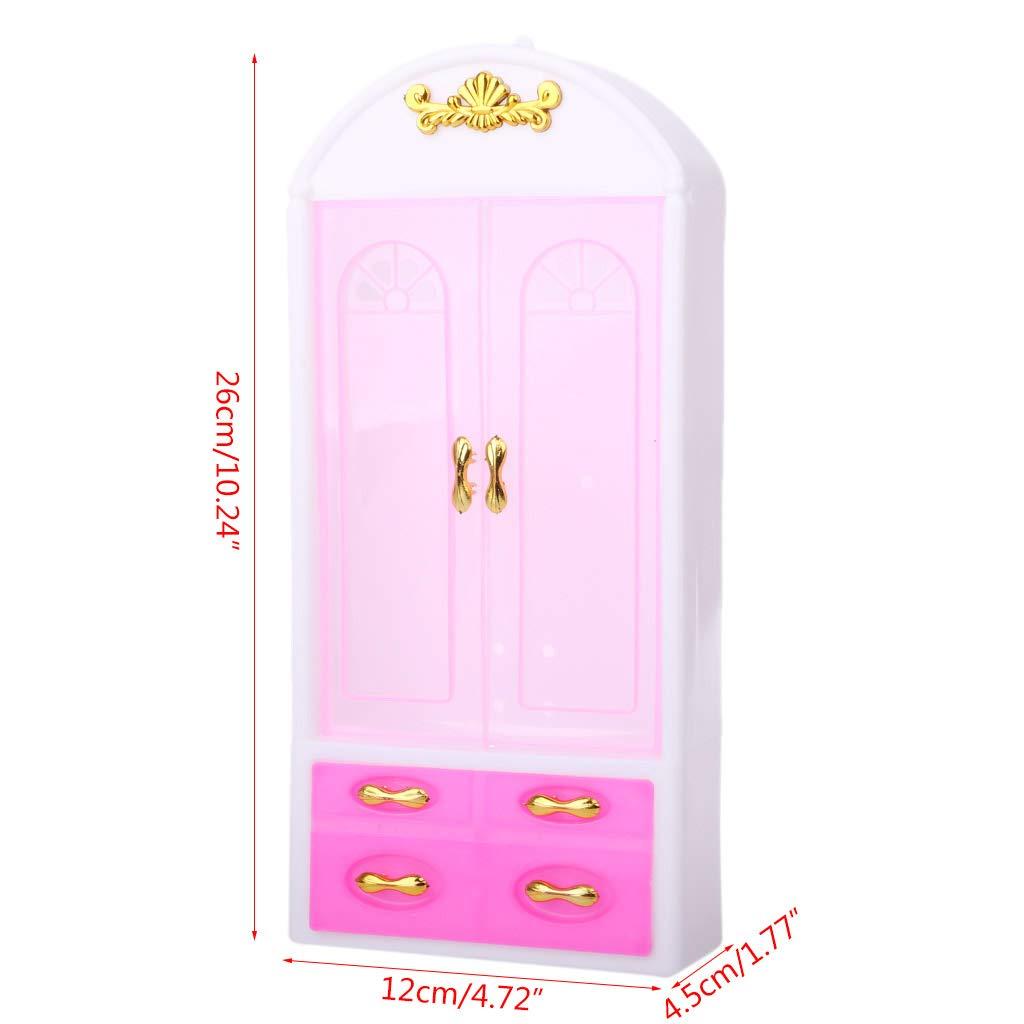Gjyia Nueva mu/ñeca Accesorios Dormitorio Armario Princesa mu/ñeca Princesa para mu/ñecas Barbie Ver Las Fotos One Size