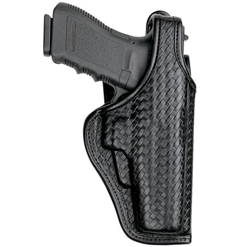 Bianchi AccuMold Elite 7920 Defender II Duty Holster -Size13 Glock 17 (Basketweave Black, Right Hand)