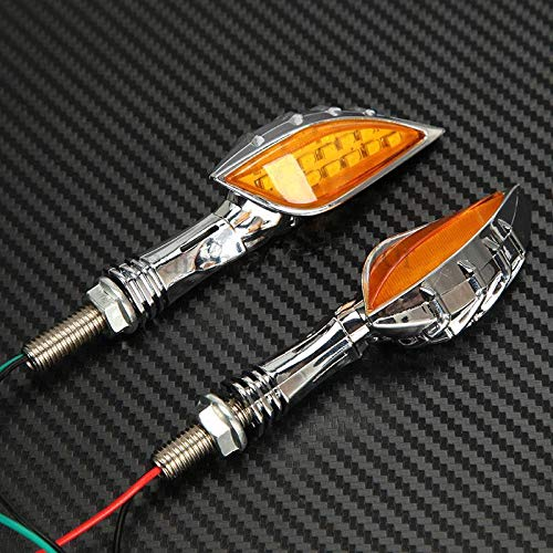 FidgetGear 2PCS 15 LED Skull Hand Finger Turn Signals Blinker for BMW Cruiser ()