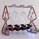 Christmas tree bottles wine rack,European wine holder creative strong and decorative wine standing oranament decor kitchen gift-B L16W12H15inch(403138cm)