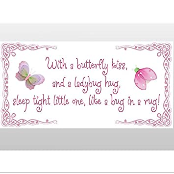 Butterfly Kiss Ladybug Hug Quote Removable Vinyl Wall Sticker Saying  Butterflies Ladybugs Lady Bug Decals Quotes Part 80