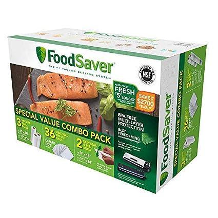 FoodSaver – Pack de sello al vacío especial de 1 – 8