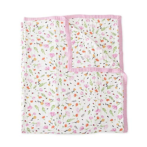 Little Unicorn Extra Soft Cotton Muslin Large Quilt Blanket - Berry & Bloom ()