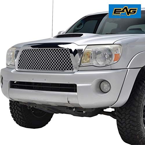 - EAG Replacement Upper Grille ABS Chrome Mesh Front Hood Grill Fit for 05-11 Toyota Tacoma