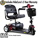 Pride Go-Go Sport Heavy Duty 3-Wheel Electric Travel Scooter Including 5 Year Extended Warranty
