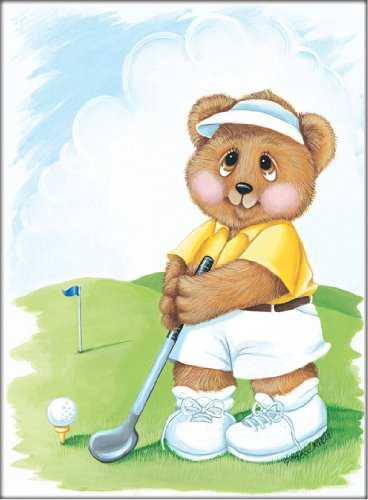 Sports Bear Golf Star - Childrens Wall Art, Kids Wall Art, Nursery Wall Art, 8 x 10