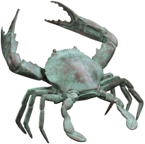 Medium Bronze Crab Sculpture - Sculpture Crab Bronze
