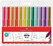 Caneta Ponta Fina, Faber-Castell, Fine Pen Colors, FPB/PROZF, Edição Especial, 12 cores