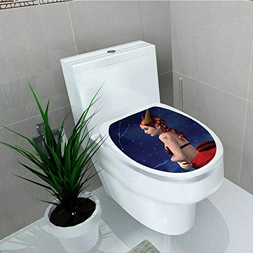 Printsonne Toilet Seat Wall Stickers Paper Taurus Girl Horns Maleficent Zodiac Stars Venus auty Decals DIY Decoration W15 x L17 for $<!--$27.99-->