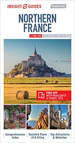 Map Of France Tourist Attractions.Insight Guides Travel Map Northern France Insight Travel Maps