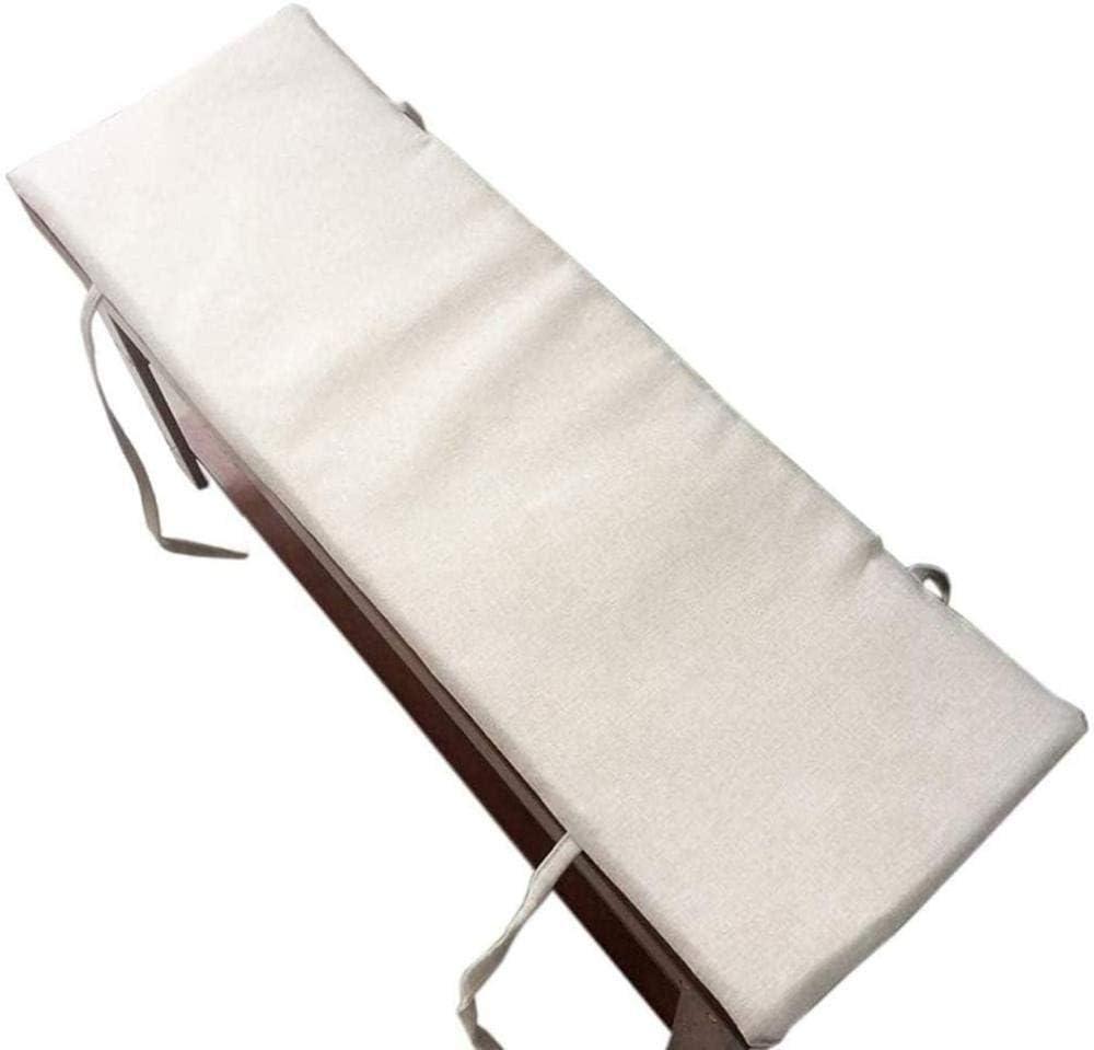 Rimovibile e Lavabile Imbottitura per Panca da Giardino Wcgcg Cuscino Lungo per Panca da 2 3 posti Tappetino per Sedia da Esterni Antiscivolo 2 cm di Spessore,Beige,100x30cm