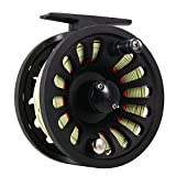 Isafish Fly Reel 5/6 Wt with Weight Forward Fly Fishing Line WF-6F with Welded Loop Backing Line Taper Leader Tippet Combo Set Green&Orange