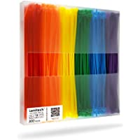 """Lenitech 6"""" 300 Pcs Multi-Purpose Cable Ties, Assorted Colored"""