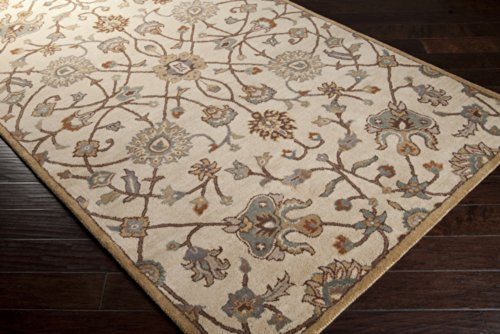 picture of Surya Caesar CAE-1081 Classic Hand Tufted 100% Wool Fatigue Green 4' Round Traditional Area Rug