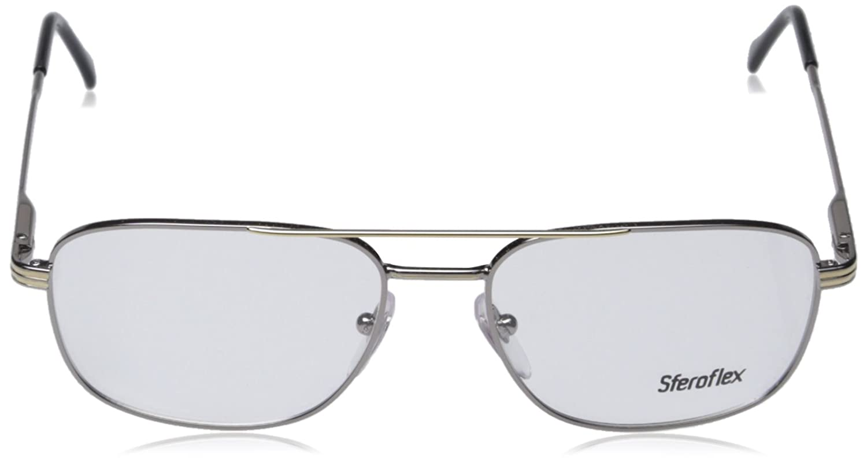 Amazon.com: Sferoflex SF 2152 Eyeglasses Styles Silver-Gold Frame w ...