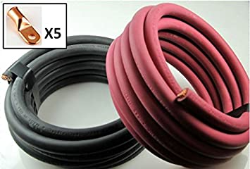 Crimp Supply Ultra-Flexible Car Battery/Welding Cable - 2/0 Gauge ...