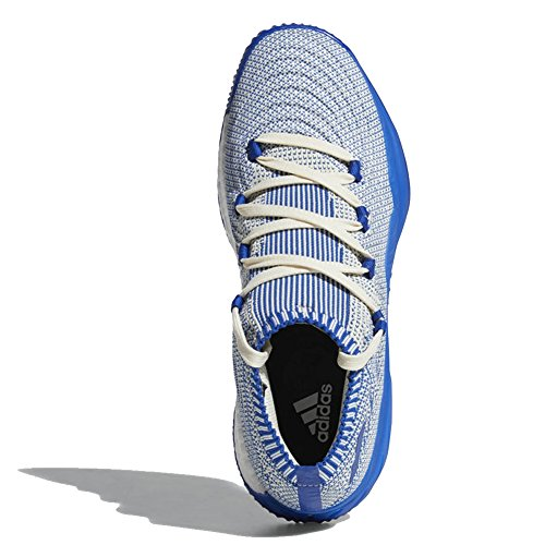 adidas Crazy Explosive 2017 Primeknit Low Shoe - Men's Basketball 10 White/Collegiate Royal