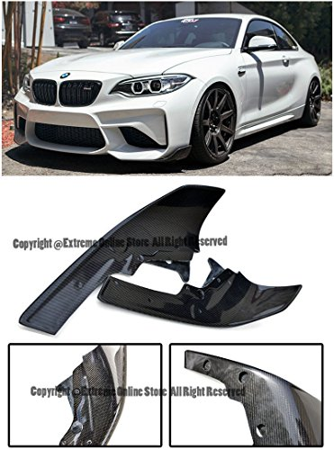 Performance Style Front Bumper Lower Lip Splitters Winglets For 14-Up BMW F87 M2 2014 2015 2016 2017 2018 14 15 16 17 18