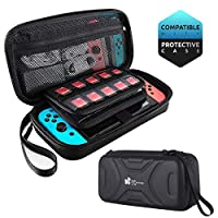 Carry Case for Nintendo Switch -EC Technology Protective Hard Portable Travel Carry Case Shell Pouch Carrying Travel Game Bag for Nintendo Switch Console & Accessories