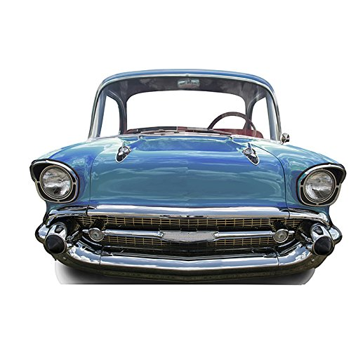 Star Cutouts SC88 Blue Car Small Stand-In Cardboard Cutout Standup