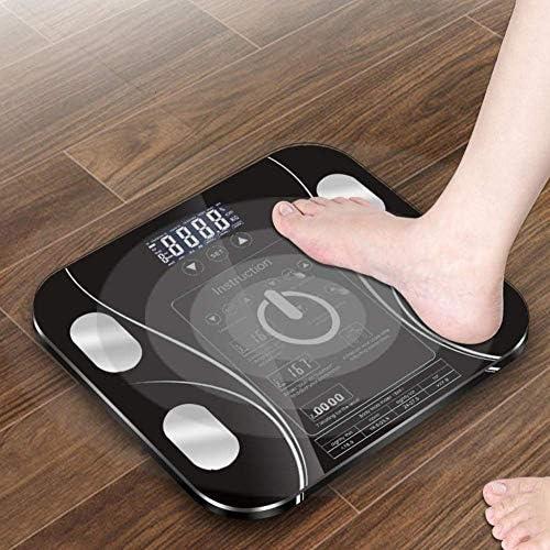 HJTLK Digital Bathroom Scales,Weighing scale Bathroom Body Scales,Digital Bathroom Scales,Digital LCD Display, Weight Scale,180Kg,Black