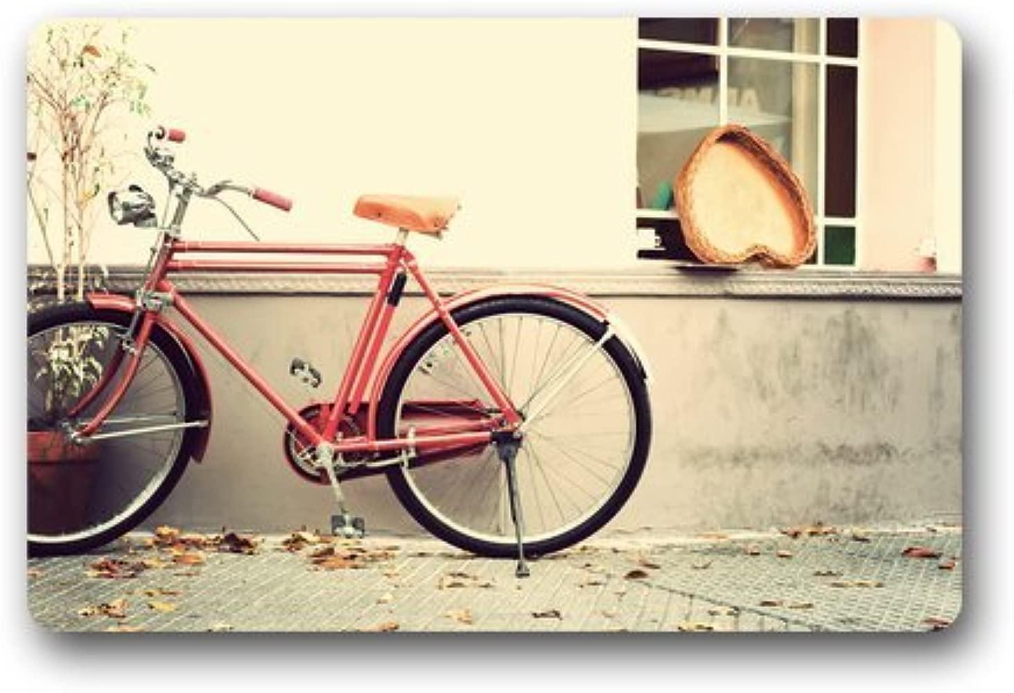 Custom lavable Felpudo Vintage bicicleta con amor corazón ...