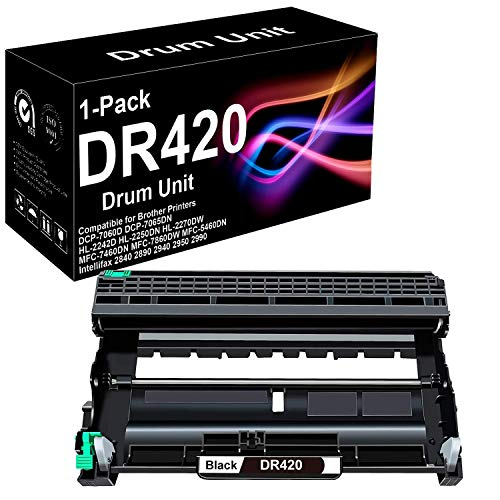 1 Pack Compatible High Yield HL-2132 Printer Drum Unit Replacement for Brother DR420 Drum Unit (Black), Sold by BUADCK
