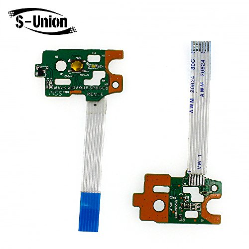 S-Union New Power Button Board w/ Ribbon For HP Pavilion 15-F 15-f010dx 15-f010wm by S-Union