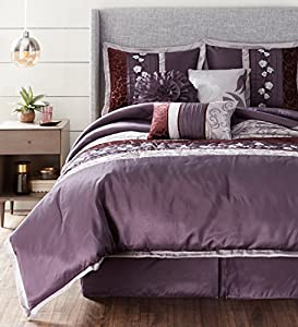 Nanshing 87942101588 3 Riley 7Pc Ck Bedding Set, Purple, California King