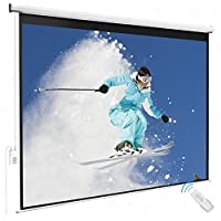 Gracelove 100 HD Motorized 4:3 Projector Screen W/ Remote Control (100 inch)