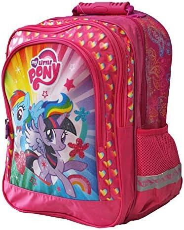 38 x 29 x 17 cm Pour l/école le sport et les loisirs Super sac /à dos // sac /à dos d/écolier Convient au format A4 Motif Rainbow Dash /& Twilight Sparkle My Little Pony