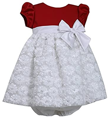 White Bonaz Baby Girl Christmas Dress by Bonnie Baby