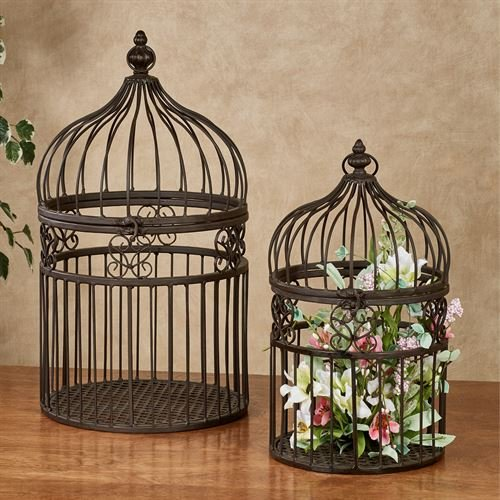 Touch of Class Metal Decorative Birdcages Bronze Set of Two by Touch of Class