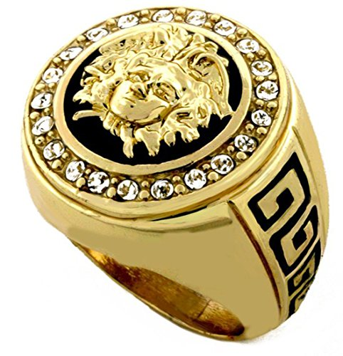 Hip Hop Medusa Head Gold Tone Men Ring 2 Buy Online In