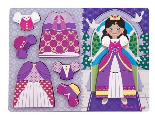 Dress Up Wooden Puzzle - Melissa & Doug Princess Dress-Up Wooden Chunky Puzzle (11 pcs)