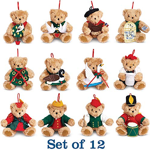 (Vermont Teddy Bear Christmas Ornaments - 12 Days of Christmas Tree Ornament Set, 4)