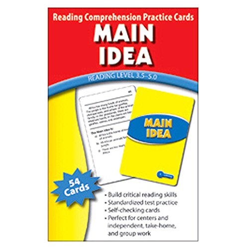 EDUPRESS MAIN IDEA PRACTICE CARDS READING (Set of 12) by Edupress