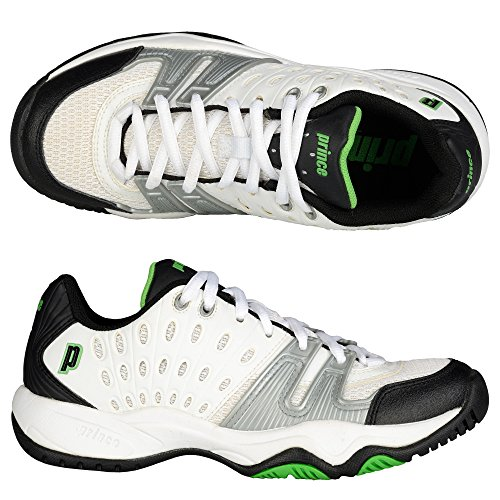 Prince T22 Junior Tennis Shoes White/black/green