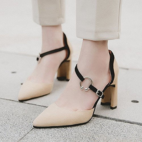 de yalanshop de Beige Mujer de 1 Zapatos Satén 39 luz versátil Zapatos Sugerencia en y BXXzqFO