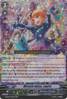 Cardfight!! Vanguard TCG - Miracle Voice, Lauris (G-CB01/004EN) - G Clan Booster 1: Academy of Divas